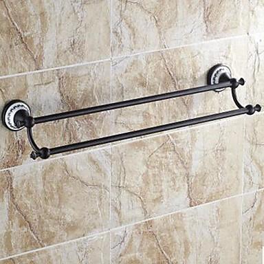 Towel Bar High Quality Traditional Brass Ceramic 1 pc - Hotel bath 2-tower bar