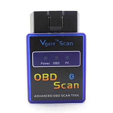 ELM327C Super Mini V1.5 Bluetooth OBD-II Car Auto Diagnostic Scanner Tool - Blå + Sort (12V)