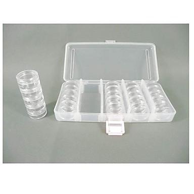 Cirkulære plastik gennemsigtig opbevaring Case 25 sæt