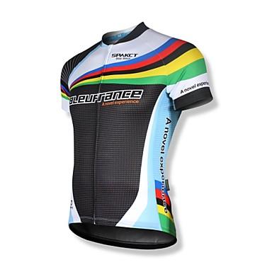 SPAKCT Pánské Krátký rukáv Cyklodres - černá / bílá Jezdit na kole Dres, Rychleschnoucí, Prodyšné, Reflexní pásky