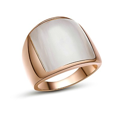 Men's Band Ring - Gold Plated, Opal Fashion 7 / 8 / 9 Silver / Golden For Christmas Gifts / Wedding / Party / Daily / Casual