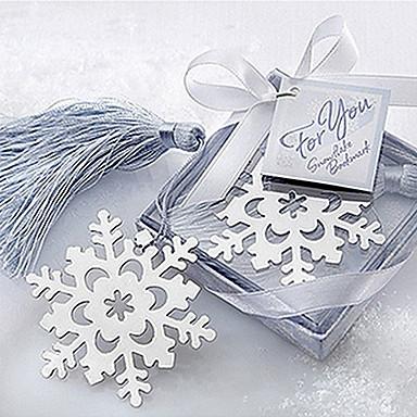 drăguț fulg de zăpadă dulce cu ciucuri 6.5 * 6.5 * 1 marcaje metalice& clipuri (argint, 1buc)