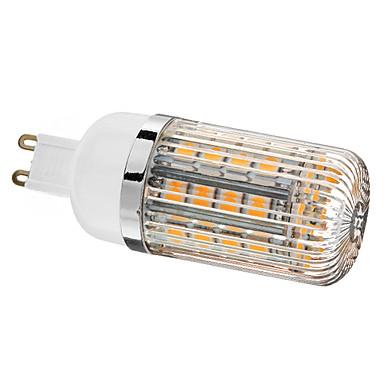 5W G9 Becuri LED Corn T 36 SMD 5050 480 lm Alb Cald Reglabil AC 220-240 V