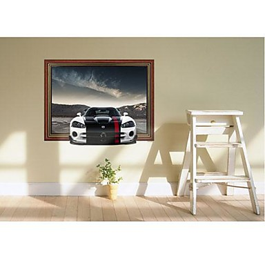 3DThe Sports Car Wall Stickers Wall Decals