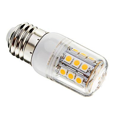 LED-kolbepærer T 27 leds SMD 5050 Dæmpbar Varm hvid 350lm 3000-3500K Vekselstrøm 220-240V