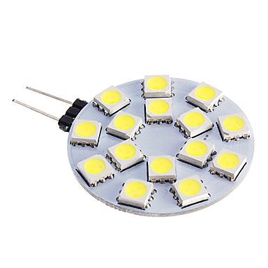 480 lm G4 LED-kohdevalaisimet 15 ledit SMD 5050 Lämmin valkoinen Kylmä valkoinen DC 12V