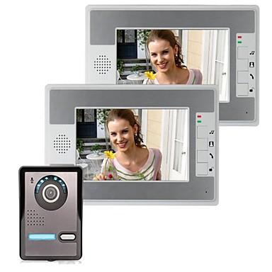 7-Zoll-Video Türsprechanlage Türklingel Gegensprechanlage 1-Kamera 2-Monitor Nachtsicht