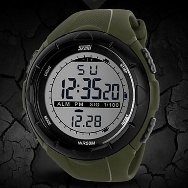 SKMEI Herrn digital Digitaluhr / Armbanduhr / Sportuhr Alarm / Kalender / Chronograph / Wasserdicht / Kreativ / LCD Caucho Band Modisch