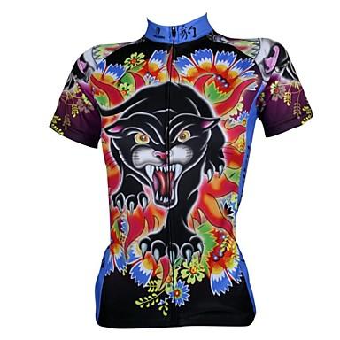 ILPALADINO Herrn / Damen Kurzarm Fahrradtrikot Cartoon Design Fahhrad Trikot / Radtrikot, Rasche Trocknung, UV-resistant, Atmungsaktiv