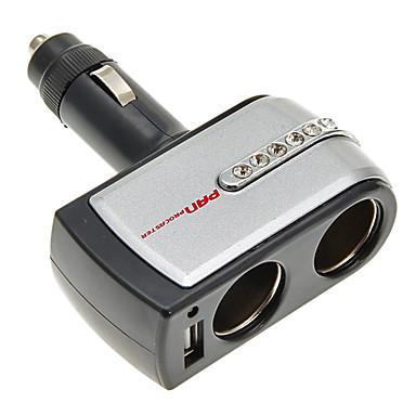 2-in-1 12V/24V DC Car  Double Power Adapter Socket Splitter