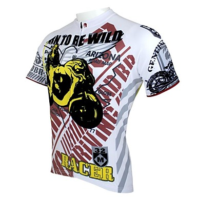 ILPALADINO Men's Short Sleeve Cycling Jersey Cartoon Bike Jersey, Quick Dry, Ultraviolet Resistant, Breathable
