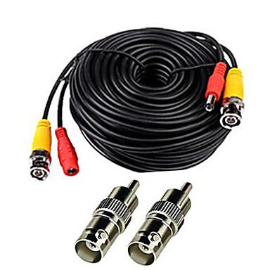 Kabely 150 Feet Video Power Cable for CCTV Surveillance System pro Bezpečnostní systémy 5000cm 0.7kg