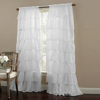 Ein Panel Window Treatment Modern Solide Wohnzimmer Polyester Stoff Gardinen Shades Haus Dekoration