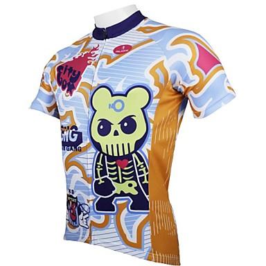 ILPALADINO Hombre Manga Corta Maillot de Ciclismo Caricatura Bicicleta Camiseta / Maillot Top Transpirable Secado rápido Resistente a los UV Deportes 100% Poliéster Ciclismo de Montaña Ciclismo de