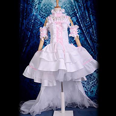 Inspirerad av Chobits Chii Animé Cosplay-kostymer cosplay Suits Klänningar Spets Ärmlös Klänning Krage Ärmar Armbindel Till Dam