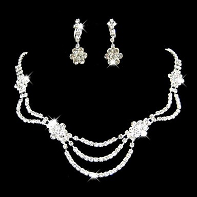 Women's Jewelry Set Include Earrings Necklaces - Alloy For Wedding Party