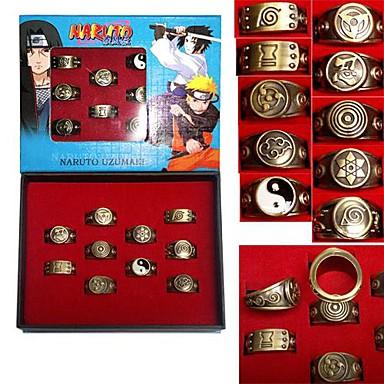Smykker Inspireret af Naruto Cosplay Anime Cosplay Tilbehør Ring Gyldent Legering Mand