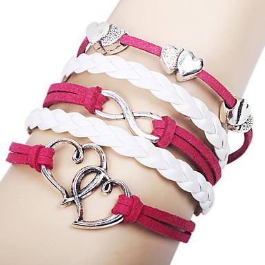 Dames Wikkelarmbanden Stof Legering Liefde Oneindigheid Sieraden Voor Dagelijks