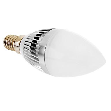 E14 LED-stearinlyspærer 3 leds Højeffekts-LED Varm hvid 350lm 3000K Vekselstrøm 220-240V