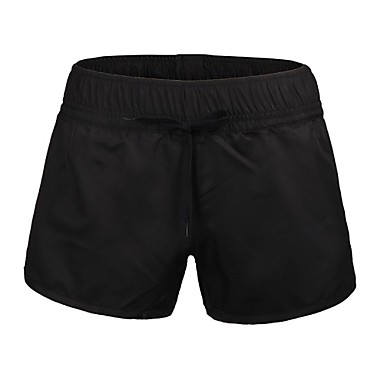 Vrouwen Polyester Black Surf Beach Short