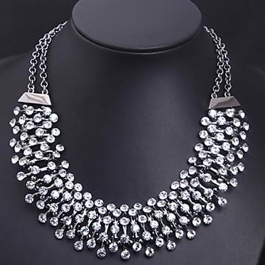 Women's Luxury Fashion Statement Jewelry Statement Necklace Crystal Imitation Diamond Alloy Statement Necklace ,