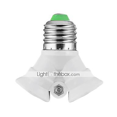 E27 to 2xE27 LED Bulbs Socket Adapter High Quality Lighting Accessory