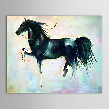 Hand-Painted Animal Wall Decor Hang-Painted Oil Painting,Traditional One Panel Canvas Oil Painting