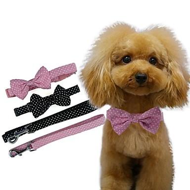 Hund Krave Hundesnore Cosplay Nylon Sort Lys pink