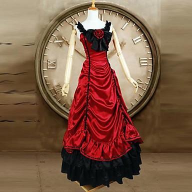 Gothic Lolita Klasická a tradiční lolita Viktoria Tarzı Dámské Jednodílné Šaty Cosplay Červená Bez rukávů