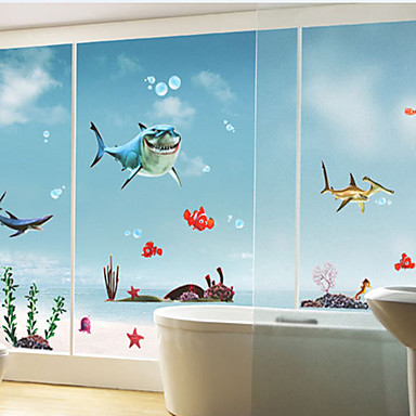 Shark Pattern Wall Sticker(1PCS)