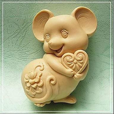 Mouse Shaped Bake Mold,W9.5cm x L7.1cm x H3.7cm Bakewares Kitchen & Dining