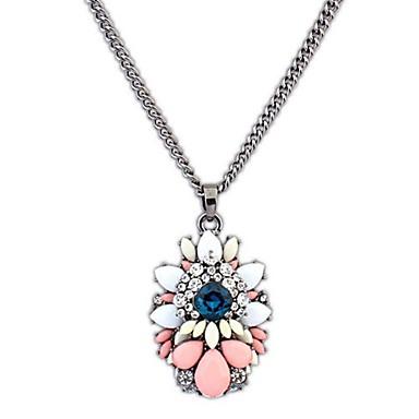 angelasex luxusní přehánět drahokam květina náhrdelník