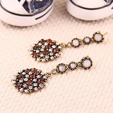 Dame Cercei Picătură costum de bijuterii bijuterii de lux European Diamante Artificiale Aliaj Circle Shape Geometric Shape Bijuterii
