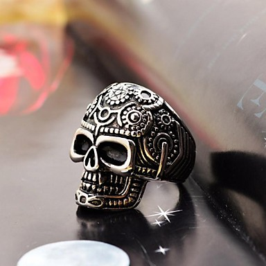 Men's Band Ring Fashion Stainless Steel Titanium Steel Skull Costume Jewelry Christmas Gifts Daily Casual
