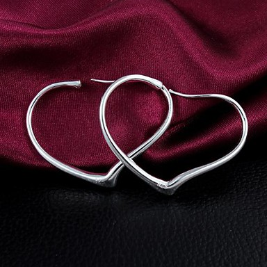 Dámské Náušnice - Kruhy Módní Zirkon Postříbřené Šperky Denní Kostýmní šperky