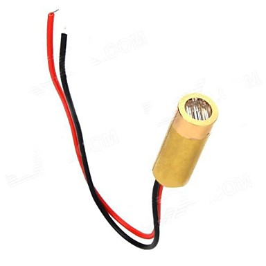 3~5mW 650nm Copper Semiconductor Laser Dot Diode Head Set - Golden + Red + Black