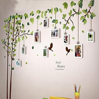 Alb Ramă foto Set de 9 cu perete autocolant