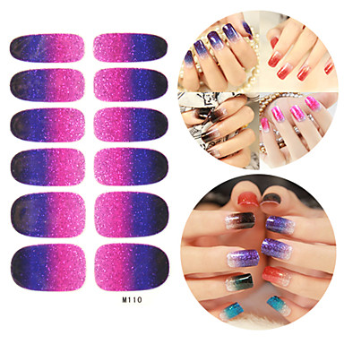 28PCS Glitter Gradient rampă Nail Art Stickere M Series nr.110