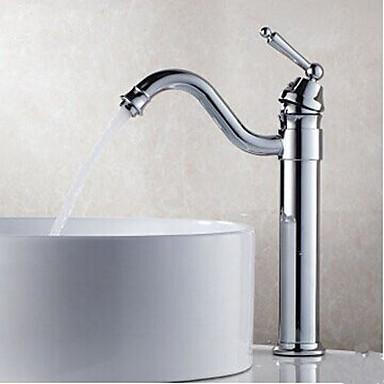 Moderne Centersat Roterbar Messing Ventil Et Hul Enkelt håndtag Et Hul Krom, Håndvasken vandhane