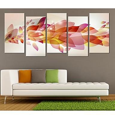 Reprodukce maleb na plátně Sady pláten Abstraktní Fantazie Pět panelů Vertikální Grafika Wall Decor Home dekorace