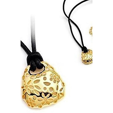 Women's Pendant Necklace Leather Alloy Pendant Necklace , Wedding Party Daily Casual