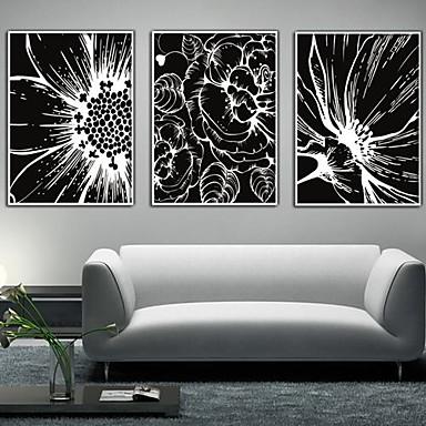 Pânză Înrămată Set Înrămat Floral/Botanic Wall Art, PVC Material cu Frame Pagina de decorare cadru Art Sufragerie Dormitor Bucătărie Birou