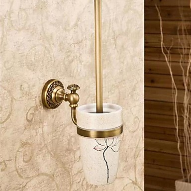 Toilet Brush Holder Antique Brass Ceramic Antique Brass