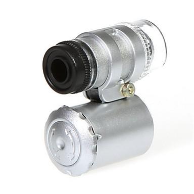 Mini-Mikroskop 60x mit 2-LED-Beleuchtung Währungs-Erkennung UV-Licht für iPhone 5/5S (3 * LR1130)