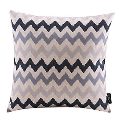 1 pcs Cotton/Linen Pillow Cover,Chevron Modern/Contemporary
