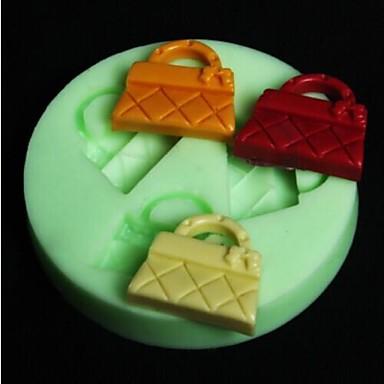 håndtaskeformet bage fondant kage skimmel, l6.5cm * w6.5m * h0.8cm kage skimmel, bage værktøj