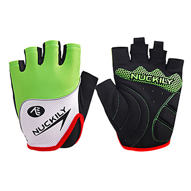 Nuckily Sports Gloves Bike Gloves / Cycling Gloves Wearable Breathable Wearproof Anti-skidding Protective Shockproof Fingerless Gloves PU