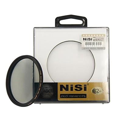 nisi® 62mm pro mc cpl multi coated cirkulær polarisator linse filter