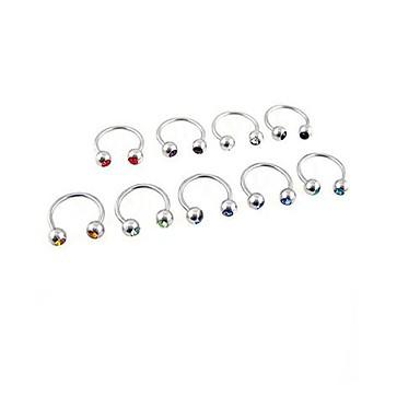 Lureme® 316L Surgical Titanium Steel Crystal U Multi-Purpose Single Stud Earrings