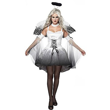 Cosplay Costumes Party Costume Angel/Devil Festival/Holiday Halloween Costumes Vintage Dress Headpiece Wings Halloween Carnival Female